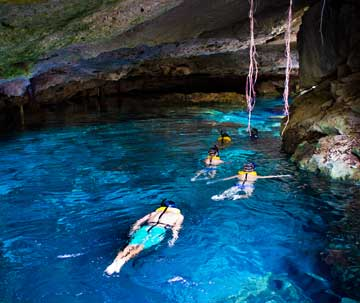 Swim in a Cenote and Snorkel with Sea Turtles